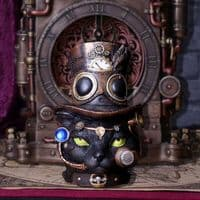 Felius Mogg Steampunk Black Cat | Bonnebombe | Nemesis Now